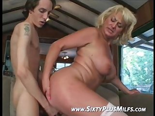 Fine blonde grandma eager to fuck
