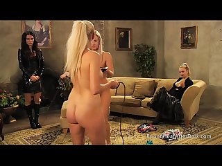 Two enslaved girls on slave training for mistress