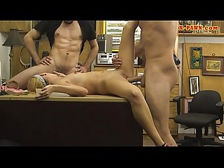 Blonde babe railed by horny Pawn dude