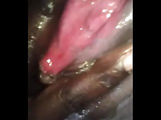 Black ugandan babe playing with pussy