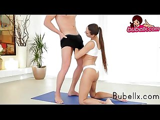 Euro babe doing morning yoga and blowjob http bubellx com