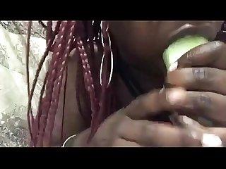 NiaMilkMarie Cucumber Challenge SupaHead Back