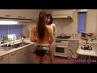 Japanese mature receives oral from babe
