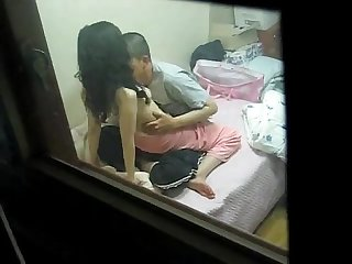 Couple caught in cam by a friend