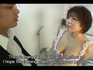 Subtitled uncensored classic japanese Av blowjob and titjob