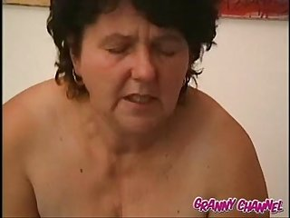 Oma fucked by younger guy