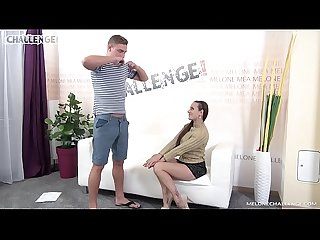 BLonde newbie did his best but it wasnt enough for pornstar Mea Melone