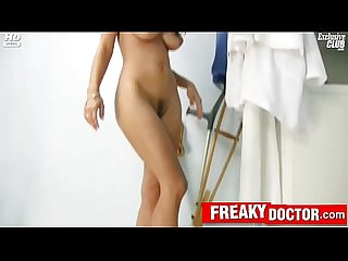 Hot czech brunette rachel evans on gyno chair