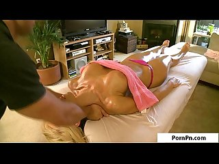 Sexy blonde gets oily fuck p4
