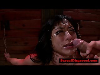 Mia Li gets throat ravaged and Choked