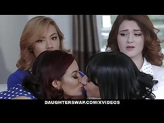 DaughterSwap - Two Hot Daugthers Get Fucked By Their Slutty Moms