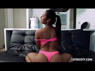 Big ass brunette latina sucked and gets fucked
