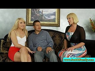 Stepmom joins stepteens for kinky fun