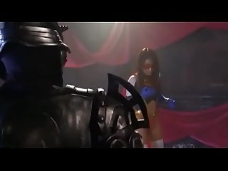 Superheroine begging for her life then gives Blowjob to survived