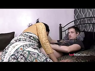 Indian Babe Lily With Her Husband Sucking Him Off