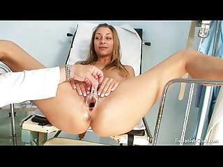 Kira Kinky Gyno Exam At Gyno Clinic With Old Bizarre Doctor