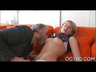 Juvenile nympho licks old dick