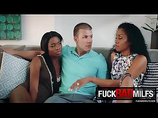 Mya mays yasmine de leon in interracial interaction