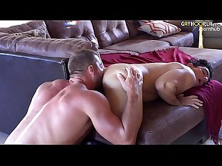 Alpha hairy muscle jock fucks fit fem boy