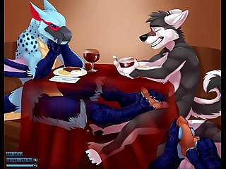 Gay bird giving wolf footjob under table yiff jasonafex
