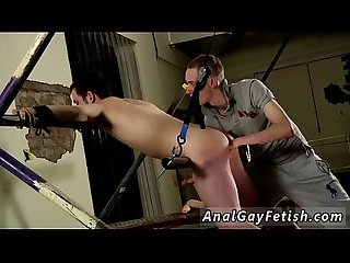 Sexy gay bondage fuck male zone Already in position, bent over with