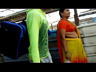 Bhojpuri Aunty BOOBS in Station