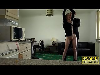 Bondage sub gets banged