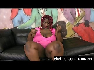 Black bbw marley Xxx gags on dicks