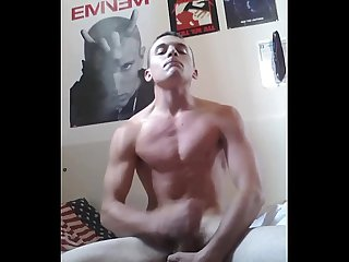 Fit boy swallows his cum 4 her gf