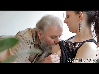 Hot young babe screwed by old chap