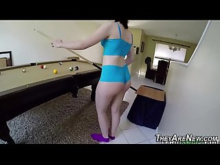 Teen newbie mouth spunked