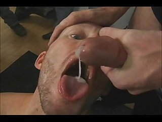 Bukkake and Cum eating www.PromiscuousBoys.com.br