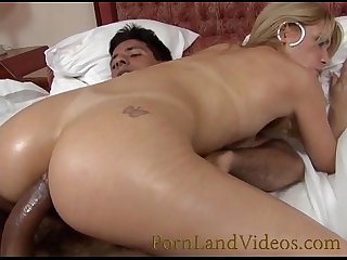 Big cock fucking tigh ass blonde slut full of oil