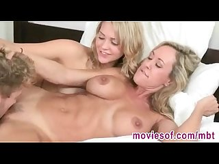 Stepmom had threesome fun with her stepdaughters boyfriend