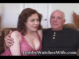 Sex crazed wifey opens pussy for another