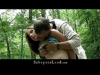 Claudie tied up in the Forest and fucked
