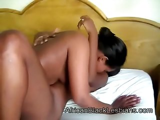 Busty african honey gets teased by horny black beautybathroom 3