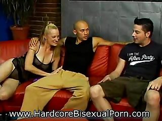 Strapon Sluts in Bisex 3somes!