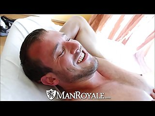 Manroyale cute guy gets massaged and fucked