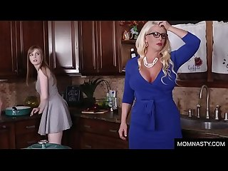Older stepmom teach daughter sex