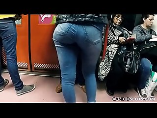 Perfect Big Ass In Super Tight Jeans in Public - CandidSluts.com Video CS-081