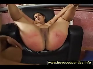Her big round juicy ass gets spanked 1