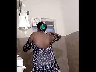 Swathi naidu wearing dress after bath part 2