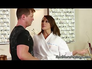 Sexy masseuse jizz soaked