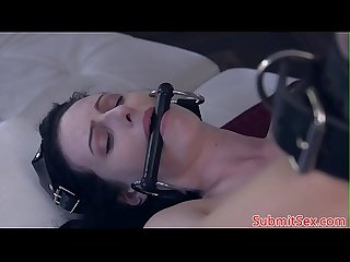 Flogged submissive slut gets assfucked deeply