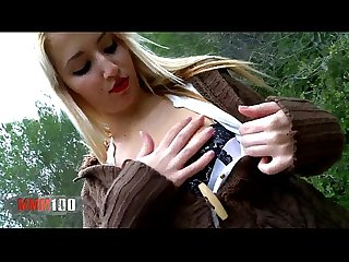 Fucking the hot latina slut filming pov in the woods