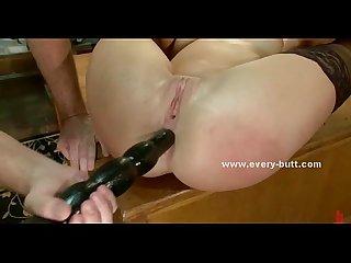 Pair of nasty sluts threesome anal sex