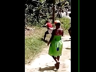 Jamaican lady fight huge tits out
