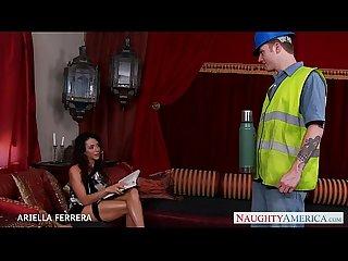 Busty milf Ariella ferrera fucking a worker
