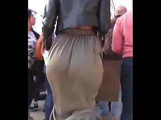 Big ass in street